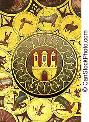 Wheel of zodiac in Prague