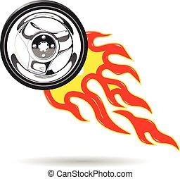 Wheel on Fire