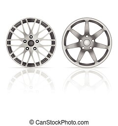 Wheel rim set on a white background.