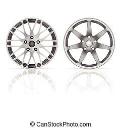 Wheel rim set