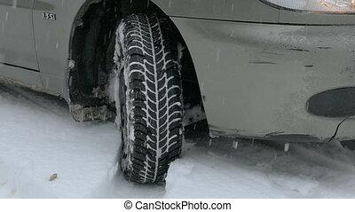wheel slip on snow