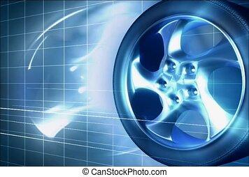 wheel, spin, rim