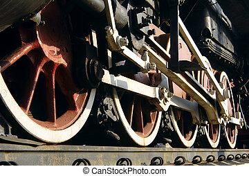 wheel steam train