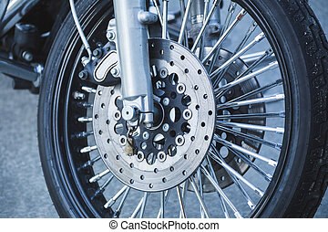 Wheel, Tire, and Front Assembly of Motorcycle