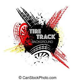 Wheel tire track color circle