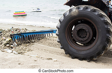 Wheel tractor cleaning