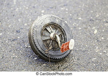 Wheel tricycle abandoned