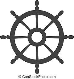 wheel., vecteur, symbole