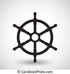 Wheel. Vector symbol