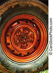 Wheel vintage style.