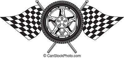 Wheel With Flags