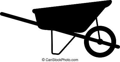 Wheelbarrow cart, shade picture