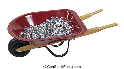 Wheelbarrow Full of Silver Stones