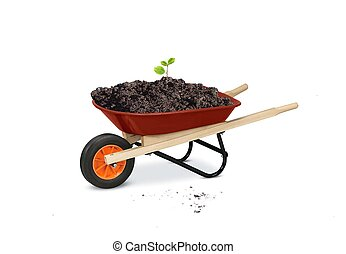 wheelbarrow gardening tools