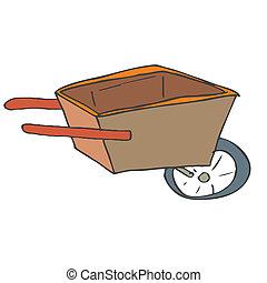 wheelbarrow handle tool manual black equipment transport gardeni