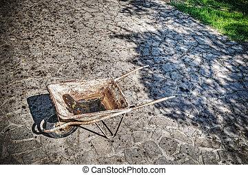 wheelbarrow in hdr tone