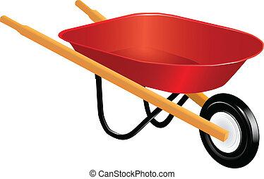 Wheelbarrow - Industrial tool for manual movement of...