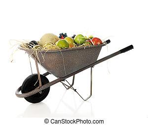 Wheelbarrow of Fruit