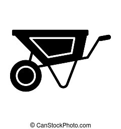 Wheelbarrow solid icon. vector illustration isolated on white. glyph style design, designed for web and app. Eps 10