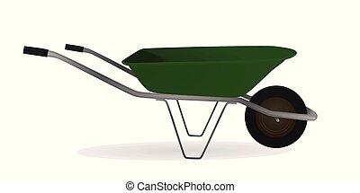 Wheelbarrow. vector illustration