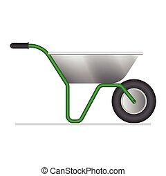 Wheelbarrow vector illustration isolated on white background