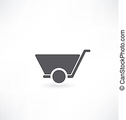 wheelbarrow vector illustration