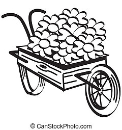 Wheelbarrow Wheel Barrel Clip Art - Wheelbarrow or wheel...