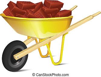 Wheelbarrow With Bricks
