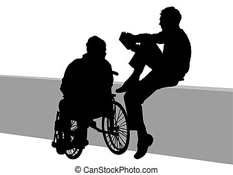 Wheelchair and couple