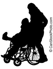 Wheelchair and woman