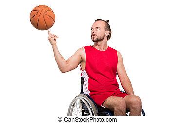 wheelchair basketball , παίξιμο , φίλαθλος