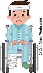 wheelchair, bemannen zitting