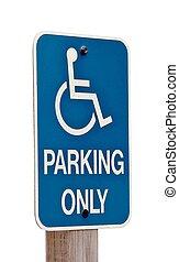 Wheelchair blue sign