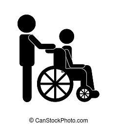 wheelchair design - wheel chair graphic design , vector...