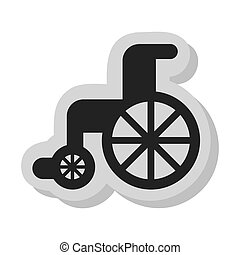 wheelchair disable isolated icon