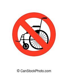 wheelchair., gens, character., arrêt, disabilities., interdit, disability., menaçant, interdiction, rouges