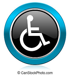 wheelchair glossy icon