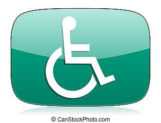 wheelchair green icon