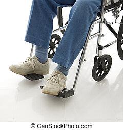 wheelchair., homem