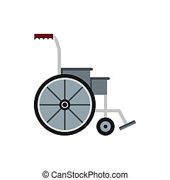 Wheelchair icon in flat style