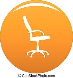 Wheelchair icon vector orange