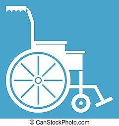 Wheelchair icon white