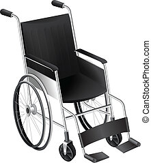 Illustration showing the wheelchair