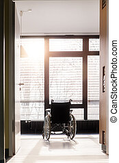 wheelchair in an hospital