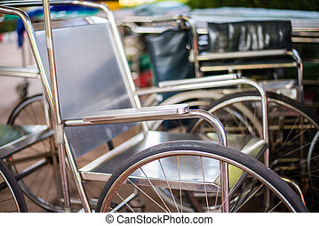 Wheelchair in hospital.