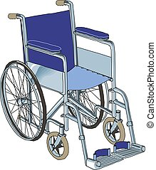 Wheelchair in the hospital vector illustration on white background.