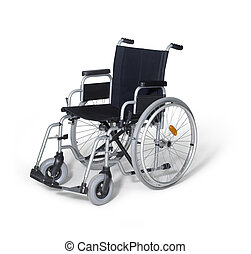 wheelchair in white back - studio photography of a empty...