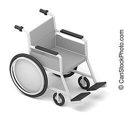 Wheelchair. Isolated on White Background