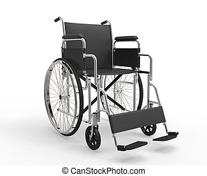 Wheelchair Isolated on White Background. 3d render