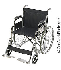 Wheelchair isolated, orthopedic equipment over white